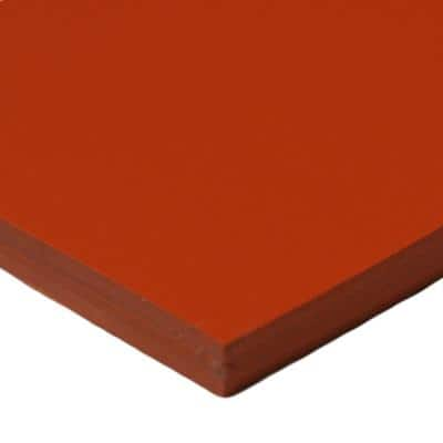 4 in. Width x 4 in. Length x 1/8 in. Thick Red/Orange Commercial Grade Silicone 60A (5-Pack)