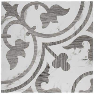Arte Loire Silver 9-3/4 in. x 9-3/4 in. Porcelain Floor and Wall Tile (11.11 sq. ft./Case)