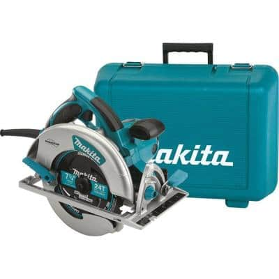 15 Amp 7-1/4 in. Corded Lightweight Magnesium Circular Saw with LED Light, Dust Blower, 24T Carbide blade, Hard Case