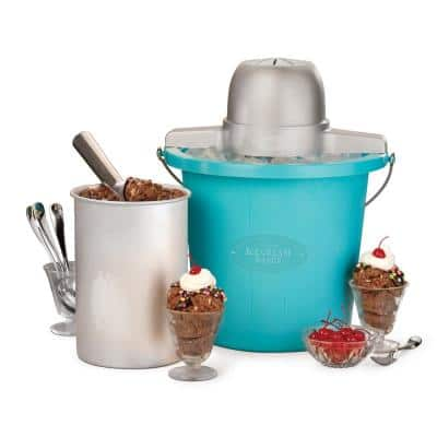 4 Qt. Electric Ice Cream Maker with Easy-Carry Handle