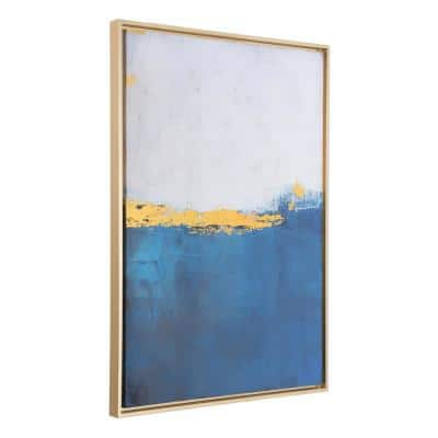 38 in. H x 27.2 in. W Azure Printed Canvas Wall Art