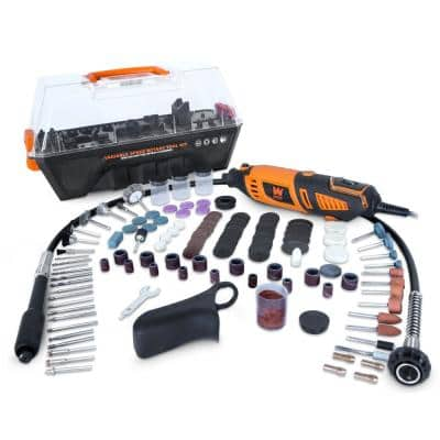 1.3 Amp Variable Speed Steady-Grip Rotary Tool with 190-Piece Accessory Kit, Flex Shaft and Carrying Case