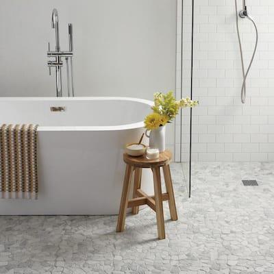 Restore Bright White 2 in. x 6 in. Ceramic Bullnose Wall Trim (0.08 sq. ft. / Piece)