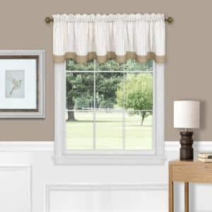 Westport 14 in. L Polyester Window Curtain Valance in Taupe