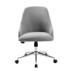 Designer Gray Linen Fabric Desk Chair