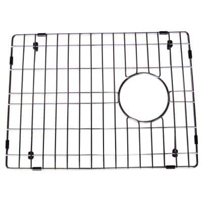 17 in. x 12.5 in. Bottom Sink Grid in Stainless Steel