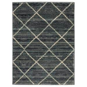 Luciana Blue 2 ft. x 3 ft. Geometric Scatter Area Rug