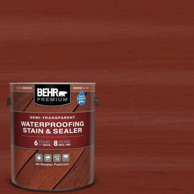 1 gal. #ST-330 Redwood Semi-Transparent Waterproofing Exterior Wood Stain and Sealer