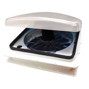 Standard Mount Universal Vent 12-Volt Fan in White