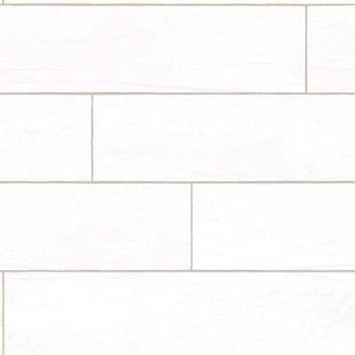 Wood Planks White-Washed Peel and Stick Wallpaper (Covers 28 Sq. Ft.)
