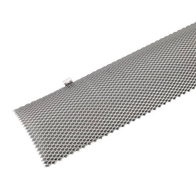 Hinged 3 ft. Unpainted Galvanized Steel Mesh Gutter Guard