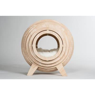 Medium Strato Wooden Sphere Cat Bed Cave
