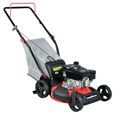 17 in. 3-in-1 Gas Push Walk Behind Lawn Mower