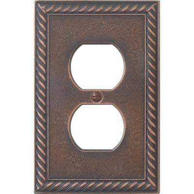 Cassidy Rope 1 Gang Duplex - Oil-Rubbed Bronze