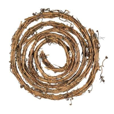 16.5 ft x 1.5 in. D Grapevine Garland, Brown (2-Pack)