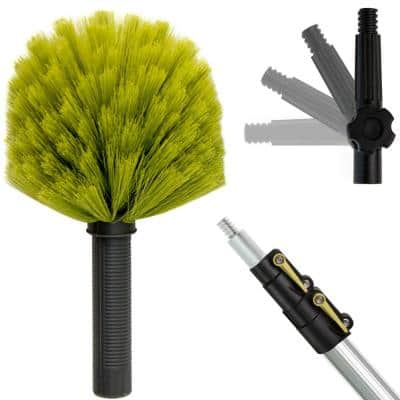 5 ft. to 12 ft. Extension Pole + Cobweb Duster / High Reach Telescopic Dusting Kit