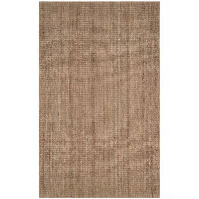Natural Fiber Beige/Grey 5 ft. x 8 ft. Indoor Area Rug