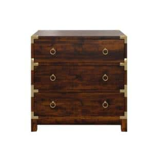 Butler Forster Brown Campaign 3-Drawer Chest of Drawers