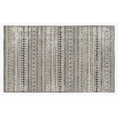 Boho Living Room with Nonslip Backing, Bohemian Tribal Print Pattern, 4 ft. x 6 ft. Small Area Rug