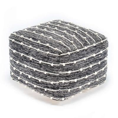 Betty Boop Black and Ivory Pouf 22 in. x 22 in. x 16 in.