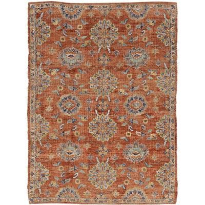 Morris Spice Chloe 5 ft. x 7 ft. Distressed Moroccan Accent Rug