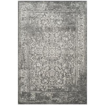 Evoke Grey/Ivory 4 ft. x 6 ft. Area Rug