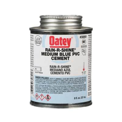 Rain-R-Shine 8 oz. Medium Blue PVC Cement