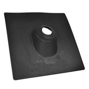 No-Calk 18 in. x 18 in. Thermoplastic Vent Pipe Roof Flashing with 2 in. Diameter
