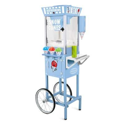 Vintage 575 oz. Snow Cone Machine Cart in Blue