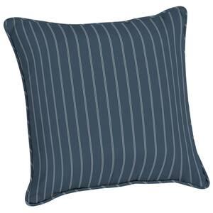 Acrylic 20 in. Indigo Ticking Stripe Throw Pillow