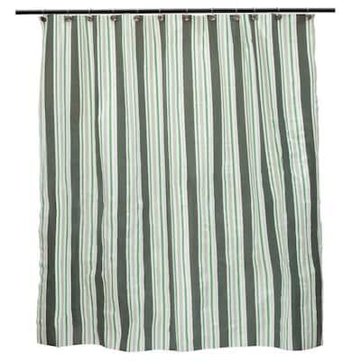 Medium Weight PEVA 70 in. W x 72 in. H Simple Stripe Shower Curtain Liner