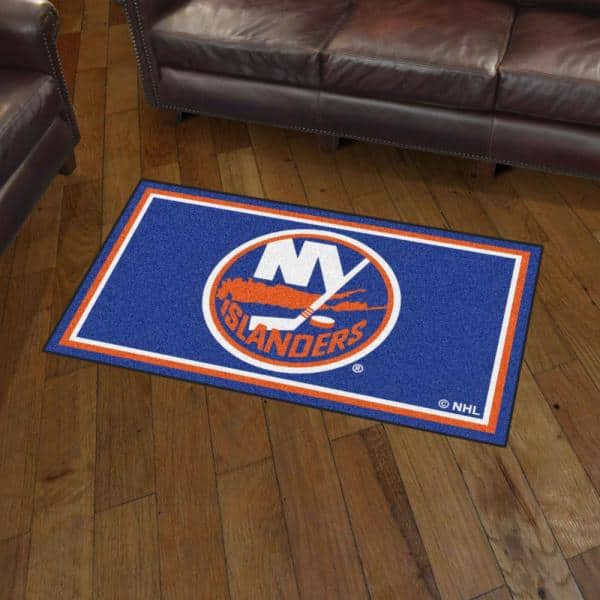 Fanmats Nhl New York Islanders 3 Ft X 5 Ft Ultra Plush Area Rug 19911 The Home Depot