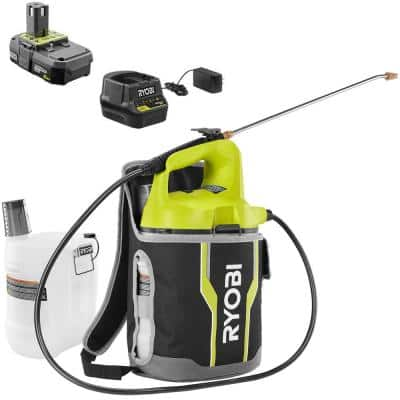 ONE+ 18V Cordless 2 Gal. Battery Chemical Sprayer and Holster with Extra Tank, 2.0 Ah Battery, Charger Included