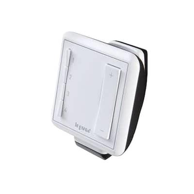 adorne Wireless Multi-Location Handheld Remote Dimmer, White