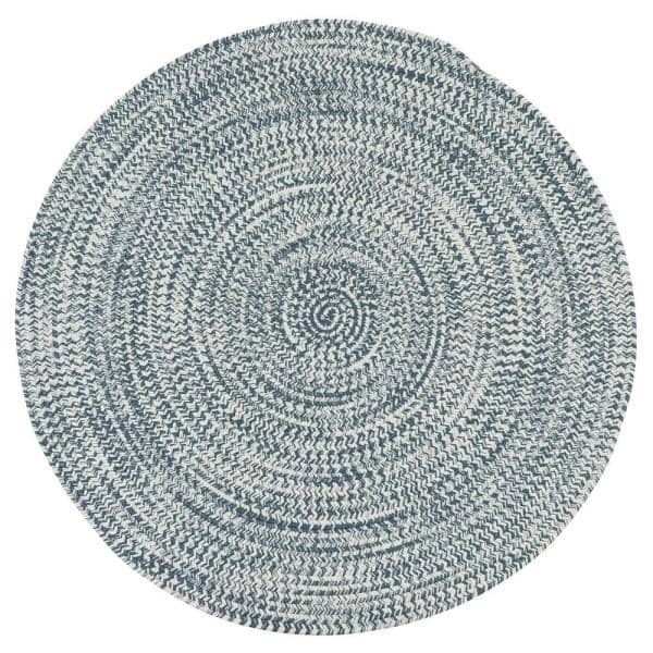Colonial Mills Kaari Arctic Blue 9 Ft X 9 Ft Tweed Indoor Outdoor Round Area Rug Ka68r108x108 The Home Depot