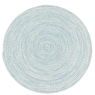 Colonial Mills Kaari Tweed Federal Blue 7 Ft X 7 Ft Indoor Outdoor Round Area Rug Ka48r084x084 The Home Depot