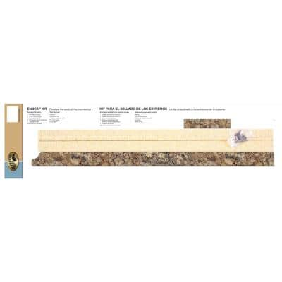 3/4 in. x 25-1/4 in. Laminate Endcap Kit in Winter Carnival with Full Wrap Ogee Edge