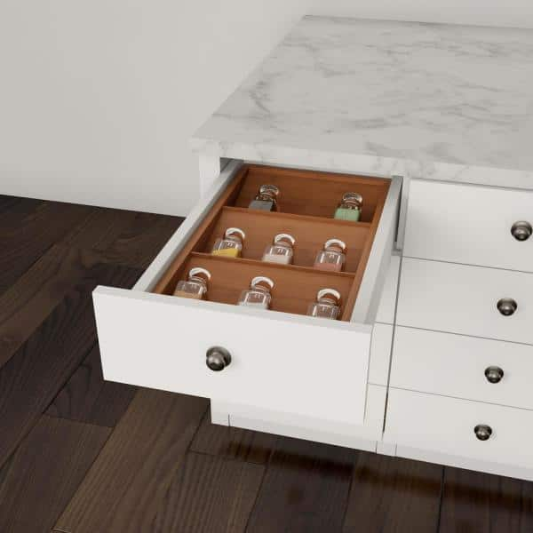 Classic Cuisine - 3-Tier Bamboo Drawer Spice Organizer