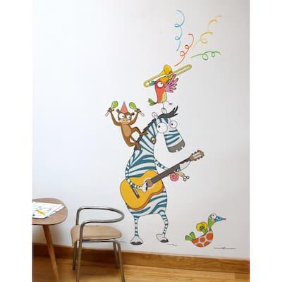 "(39 in. x 59 in.) Multi-Color ""Boogie Woogie"" Kids Wall Decal"