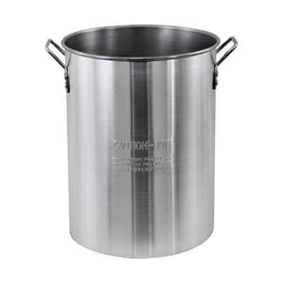 30 qt. Aluminum Stock Pot in Silver