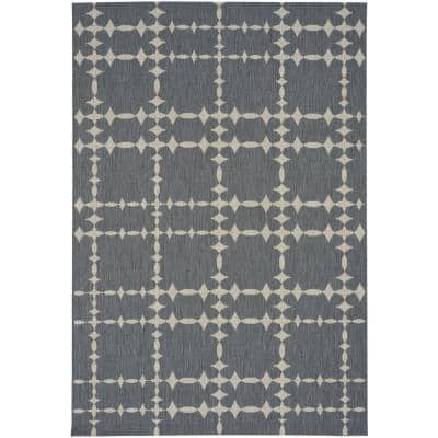 COCOCOZY Elsinore Tower Court Coal 5 ft. x 8 ft. Area Rug