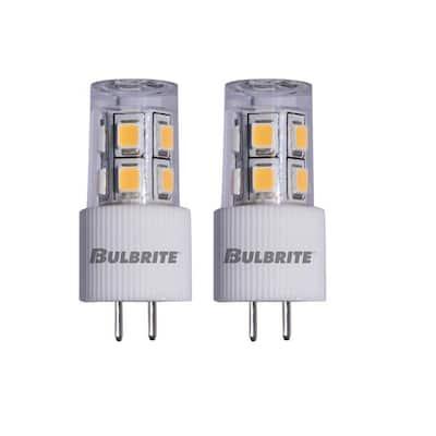 15-Watt Equivalent JC Non-Dimmable Bi-Pin (G4) LED Light Bulb Soft White Light (2-Pack)