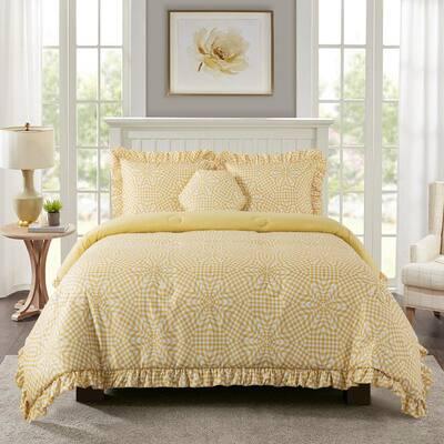 Sunshine Gingham 4-Piece Comforter Set