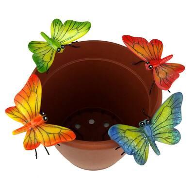 4-Piece Butterfly Flower Pot Sitter Hanger