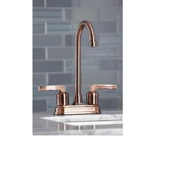 Centurion 2-Handle Bar Faucet in Antique Copper