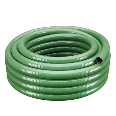 2 in. Dia x 25 ft. Green Heavy-Duty Flexible PVC Suction and Discharge Hose