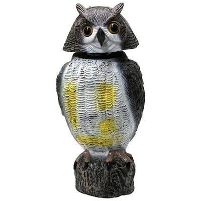 17.25 in. Garden Owl Decoy Pest Repellant with Swivel Head
