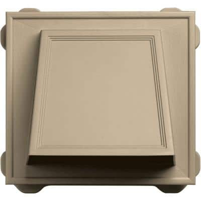 6 in. Hooded Siding Vent #013-Light Almond