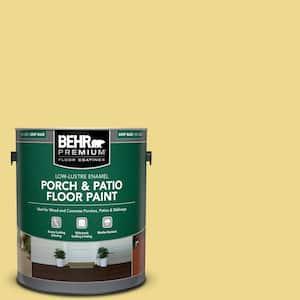 1 gal. #P320-4 Pineapple Crush Low-Lustre Enamel Interior/Exterior Porch and Patio Floor Paint