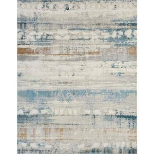 Bliss by N Natori Blue Neutrals 5 ft. 6 in. x 7 ft. 6 in. Area Rug